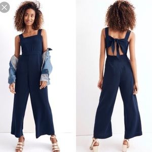 Madewell Pants Apron Bowback Jumpsuit In Navy Poshmark